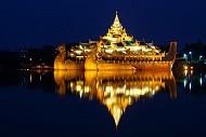 Hồ Kandawgyi- địa điểm du lịch Myanmar tuyệt đẹp