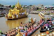 Rộn ràng lễ hội chùa Phaungtaw Oo tại đất nước Myanmar