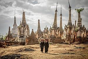 Khám phá khu đền Nyaung cổ kính ở Myanmar