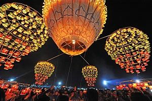 Taunggyi Tazaungdaing - Lễ hội khinh khí cầu lửa ở Myanmar