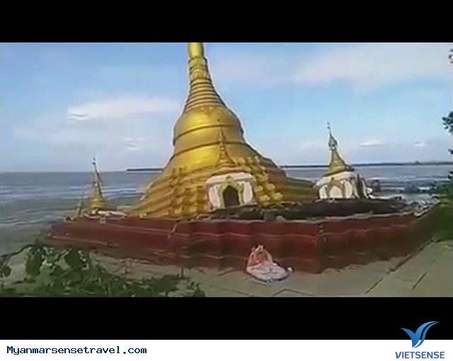 """Chùa dát vàng ở Myanmar bị nước lũ """"nuốt chửng"""",chua dat vang o myanmar bi nuoc lu nuot chung"""