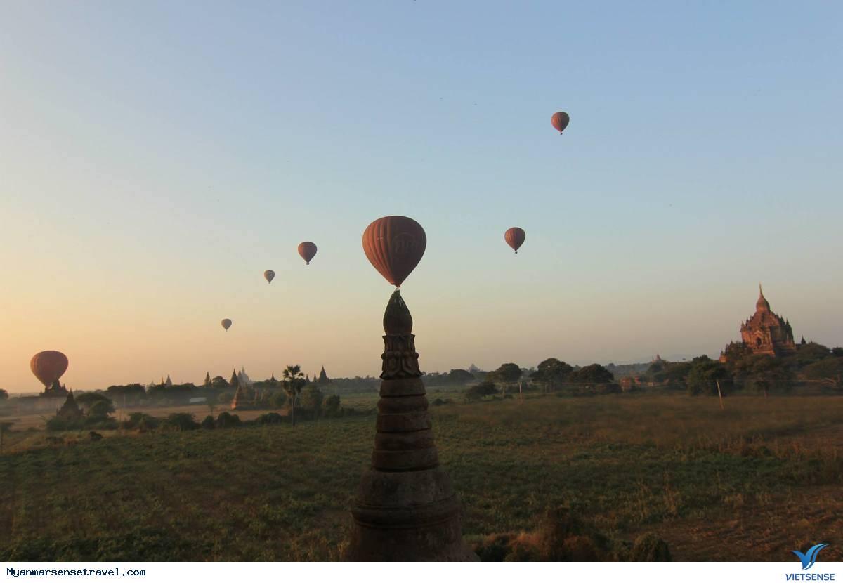 Chùm ảnh Bagan trong ánh bình minh tuyệt đẹp,chum anh bagan trong anh binh minh tuyet dep