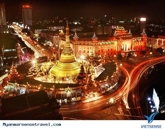 Khám phá Yangon về đêm,kham pha yangon ve dem