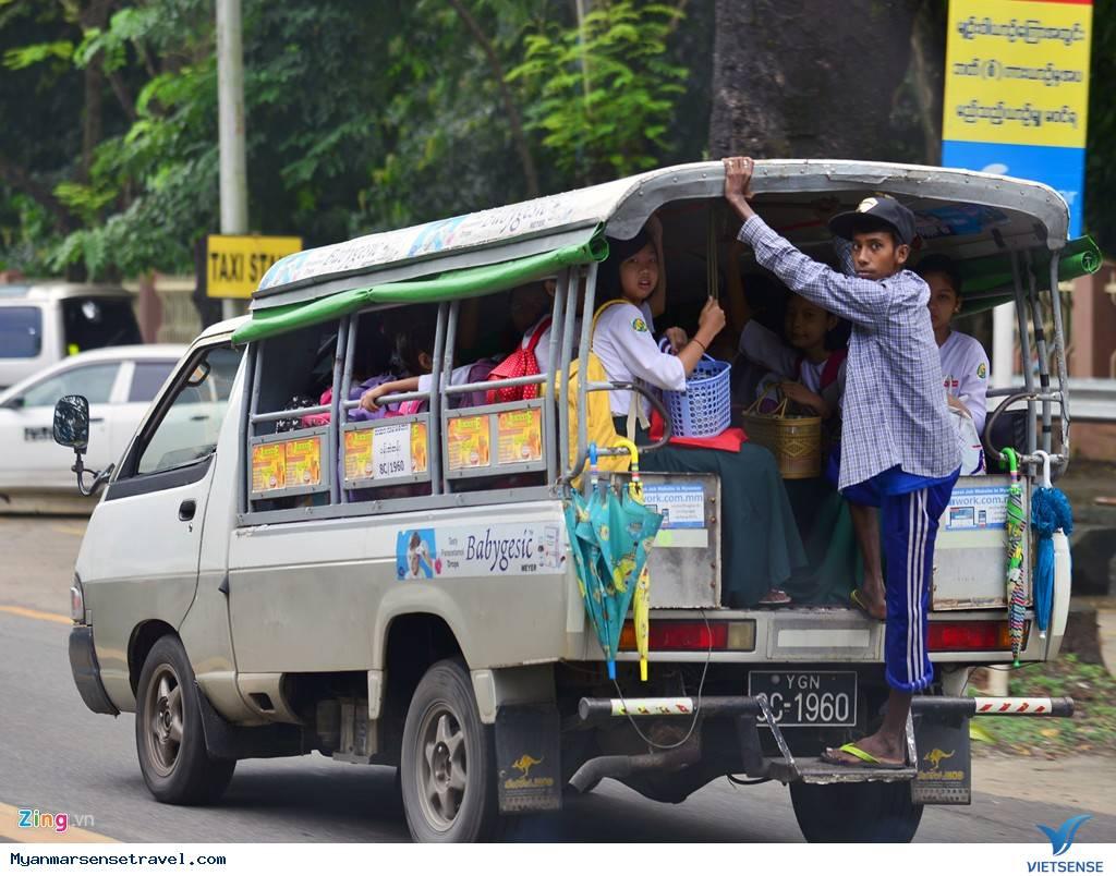 Những Hình Ảnh Về Hệ Thống Giao Thông Khác Biệt Tại Myanmar