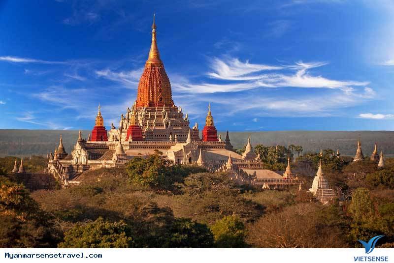 Tới Bagan đừng quên ghé chùa cổ đẹp nhất Ananda,toi bagan dung quen ghe chua co dep nhat ananda